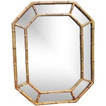 Image of Hollywood Regency Octagonal Faux Bamboo Mirror