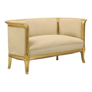 Art Nouveau Giltwood Canape Sofa