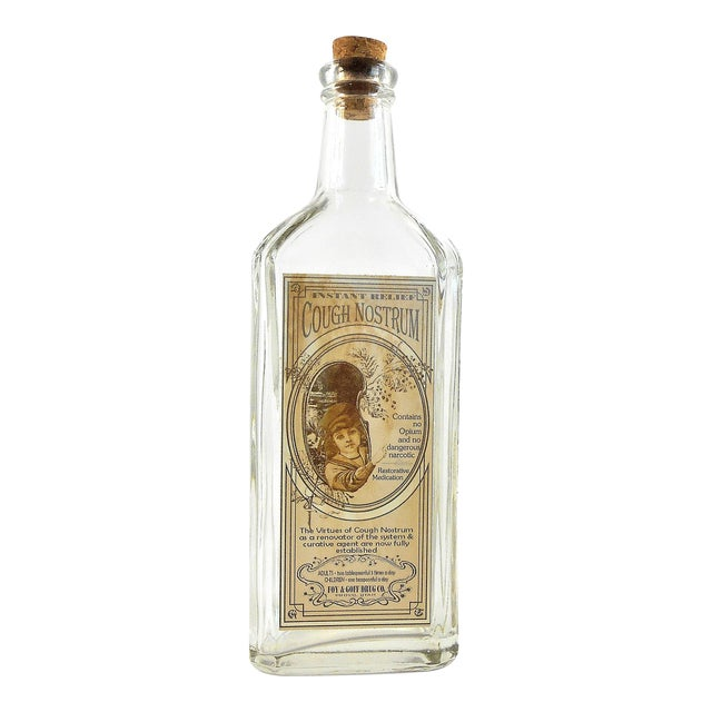 Vintage Style Cough Nostrum Remedy Bottle - Image 1 of 5