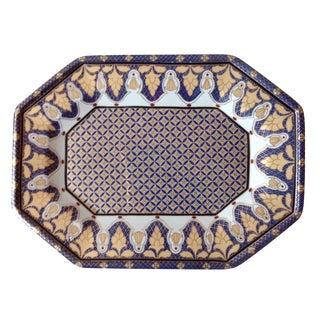 Gold & Blue Porcelain Tray