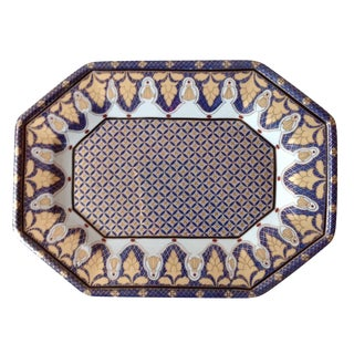 Gold & Blue Porcelain Tray