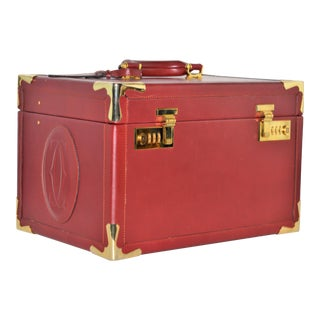 Cartier Leather Burgundy Train Case