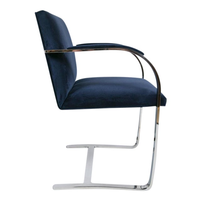 Brno Flat Bar Chairs in Navy Velvet, Set of Six - Image 1 of 9
