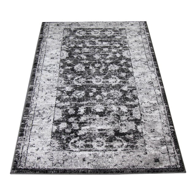 Antique Style Distressed Rug - 3′ × 5′