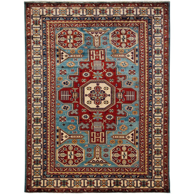 """Traditional Hand Knotted Area Rug - 5'5"""" X 7' - Image 1 of 3"""