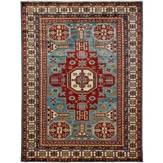 """Traditional Hand Knotted Area Rug - 5'5"""" X 7'"""