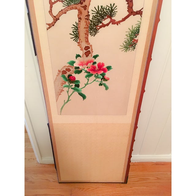 Silk Embroidered Chinoiserie Panels - Pair - Image 4 of 10