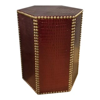 Taylor Burke Faux Crocodile Leather Accent Table