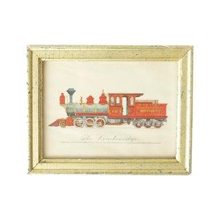 "Framed Train Print Titled ""The Breckenridge"""