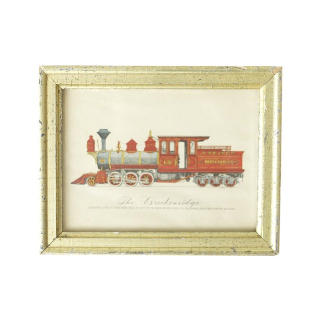 "Framed Train Print Titled ""The Breckenridge"" - Image 1 of 3"