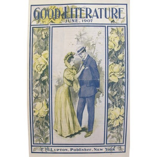 1907 Original Good Literature Magazine Cover, F.M. Lupton