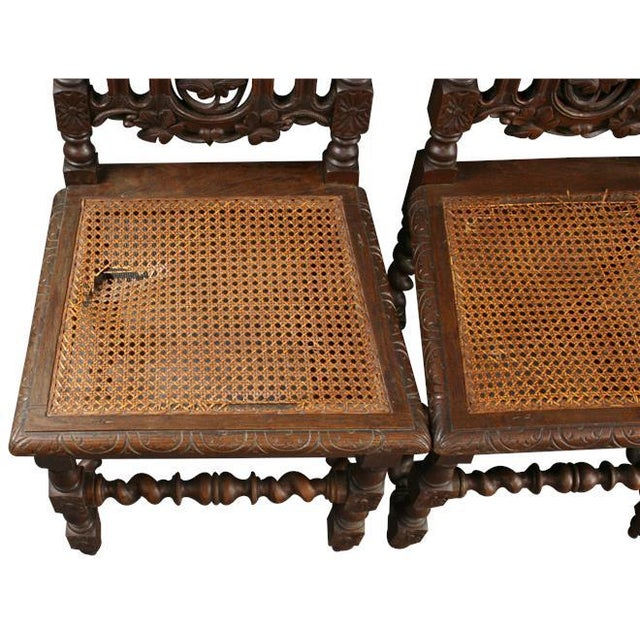 1880 Hunting Renaissance Dining Chairs - Set of 6 - Image 7 of 9