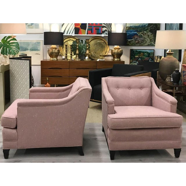 Mid-Century Transitional Club Chairs - A Pair - Image 4 of 8
