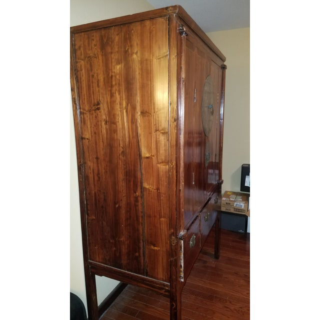 Image of Rosewood Asian Armoire Cabinet