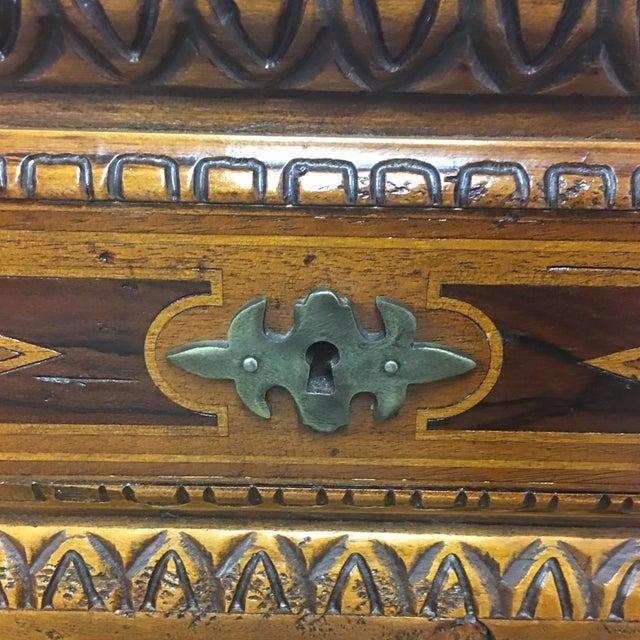 Vintage Carved & Inlaid 4 Drawer Dresser - Image 9 of 9