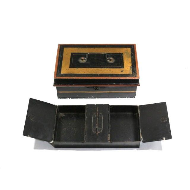 Image of 1920s English Metal Cash Boxes - Set of 3