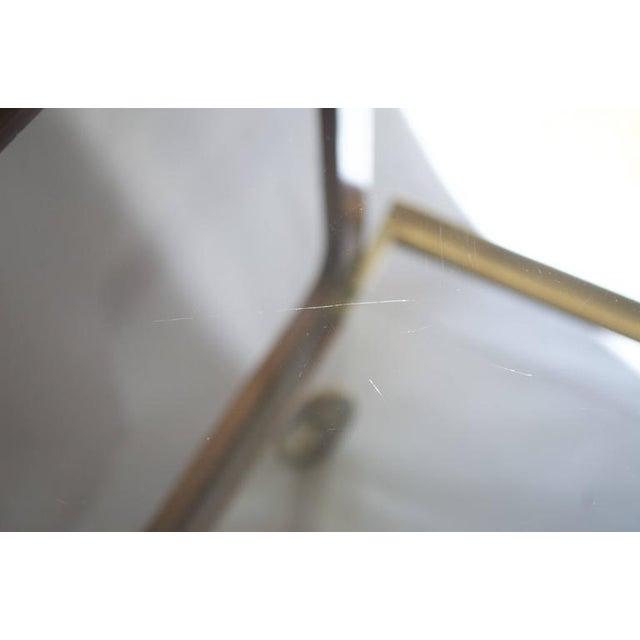 Austrian Walnut and Brass Bar Cart - Image 5 of 5