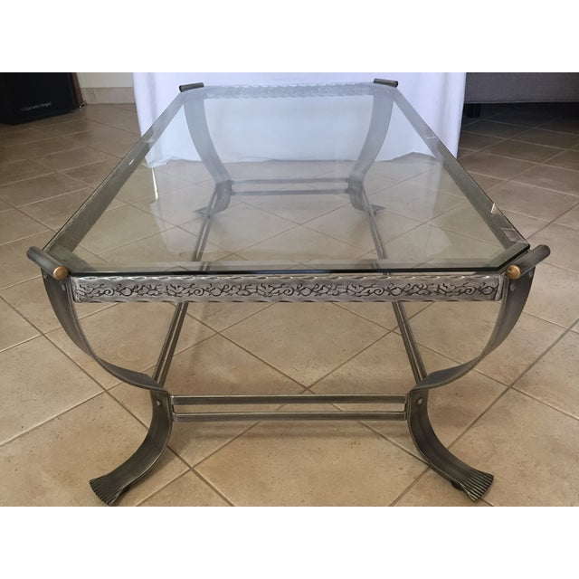 Glass Top Steel Base Coffee Table Chairish