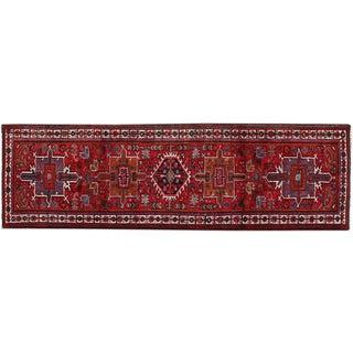 "Vintage Persian Heriz Runner Rug - 3'5"" x 10'10"""