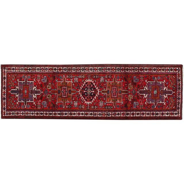 """Image of Vintage Persian Heriz Runner Rug - 3'5"""" x 10'10"""""""