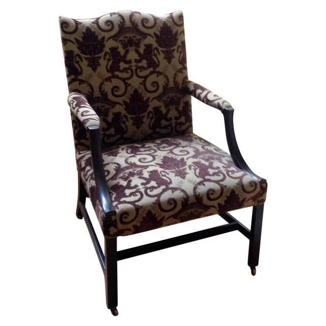 18th Century English Gainsborough Armchair - Image 1 of 4