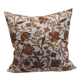 Pair of Stenciled on Linen Pillows