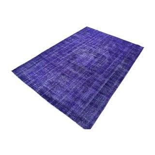 Vintage Handwoven Soft Lilac Rug - 6′11″ × 10′3″