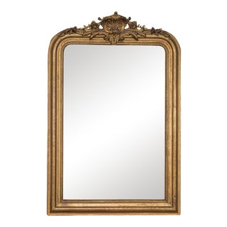 Antique French Louis Philippe Giltwood Mirror circa 1890 (30 1/2″ wide x 46″ high)