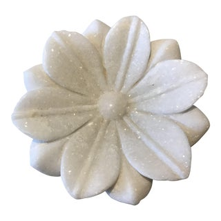 Hand Carved Marble Lotus Dish