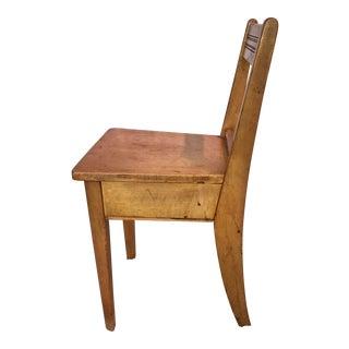 Vintage Slat Wood Plank Chair