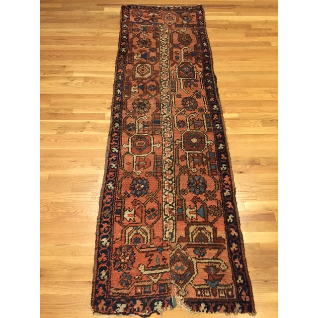 Vintage Hand Woven Persian Runner - 2′6″ × 8′ - Image 2 of 10