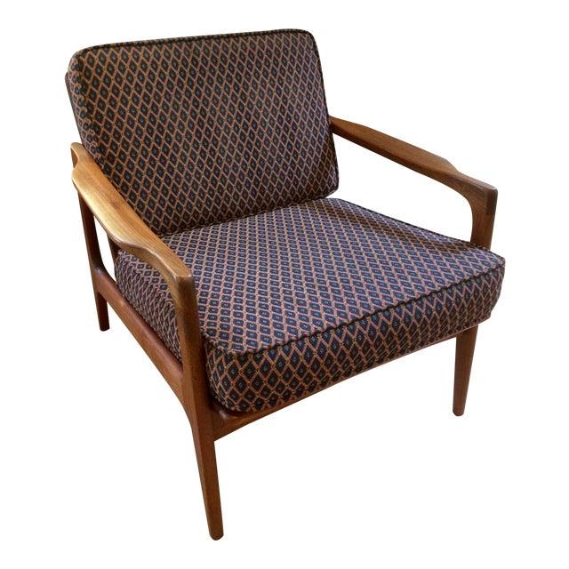 1960s Japanese Modern Teak Lounge Chair   Chairish