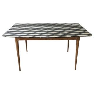 Hand Painted Danish Style Mid Century Table