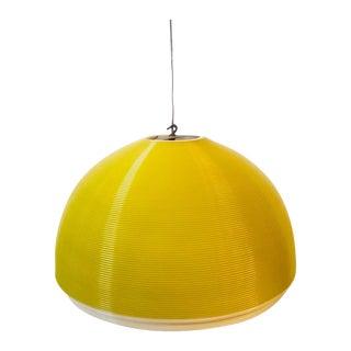 1950's Yellow Heifetz Rotoflex Pendat Chandelier