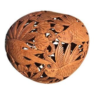 Vintage Carved Coconut