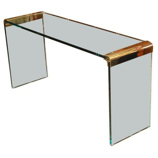Glass Console Table by Leon Rosen for Pace