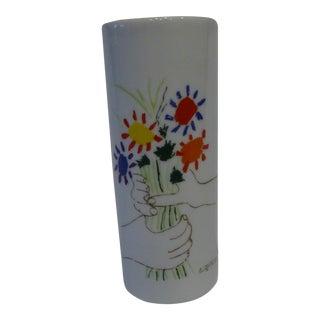 """Picasso """"Main Aux Fleurs"""" Ceramic Candleholder"""