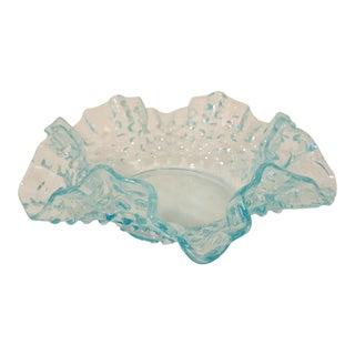 Soft Aqua Opalescent Hobnail Bon Bon Dish