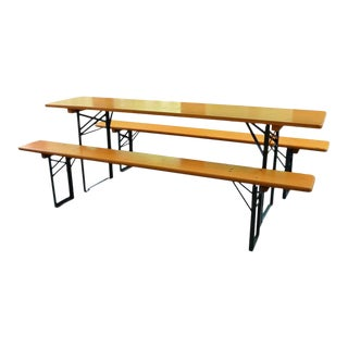 Bavarian Brewery Picnic Table & Benches