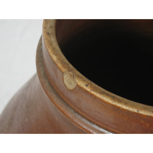 Image of Antique Brown Pitcher With Lid
