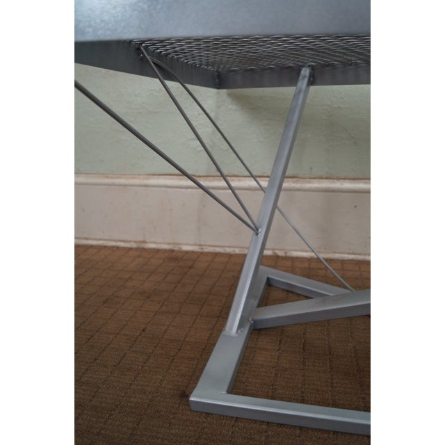 Contemporary Expanded Metal Coffee Table - Image 6 of 10