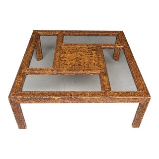 Tortoiseshell Burnt Bamboo Design Table