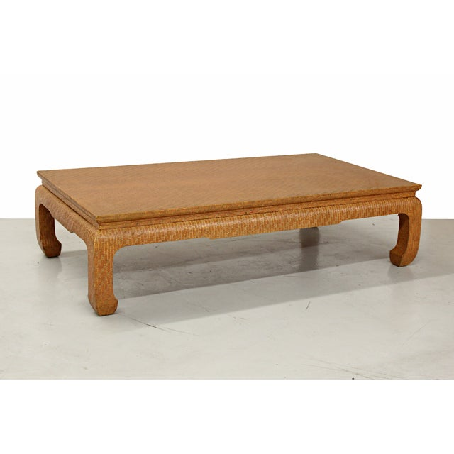 Vintage Baker Grasscloth Asian Style Coffee Table Chairish