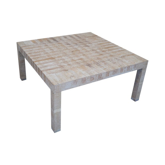 Jonathan Charles Houndstooth Parsons Coffee Table - Image 1 of 10