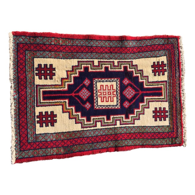 Image of 1134 Turkaman Persian Rug - 1′11″ × 2′10″