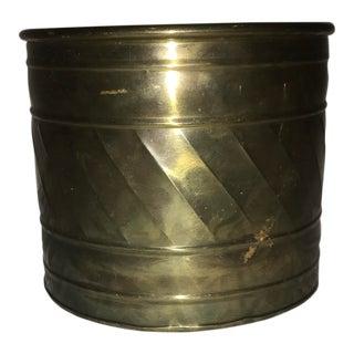 Medium Detailed Brass Planter Pot
