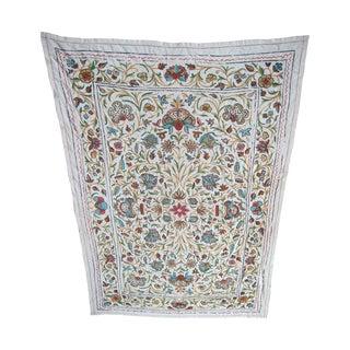 Antique Crewelwork Textile Circa Late 1800's