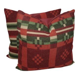 Horse Blanket Pillows - A Pair