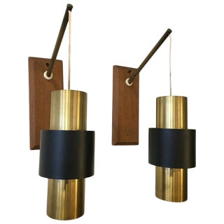 "Jo Hammerborg ""Saturn"" Sconces - A Pair"