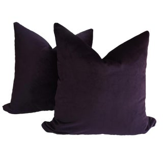 Plum Velvet Pillows - a Pair
